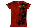 AC/DC koszulka t-shirt problem child skinny TIEDYE