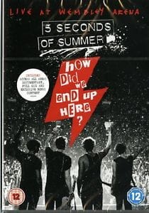 5 SECONDS OF SUMMER HOW DID WE END UP HERE? 5 SECONDS OF SUMMER LIVE AT WEMBLEY ARENA DVD DISC
