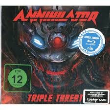 ANNIHILATOR TRIPLE THREAT (BLU-RAY+2CD) DVD BLU-RAY DISC