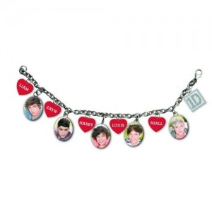 One Direction Charm Bracelet: 5 Head Shots