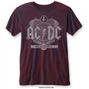 Ac/Dc Koszulka Black Ice Mens Burnout Navy