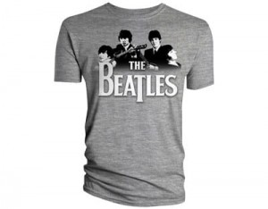 The Beatles Koszulka T-Shirt męski Band Over Logo