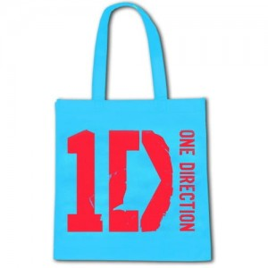 One Direction Eco Torba Logo Niebieska