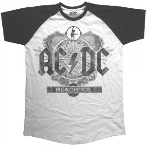 ACDC - Black Ice Short Sleeve Raglan koszulka t-shirt męska