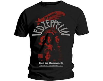 Led Zeppelin Koszulka T Shirt Męski Live In Denmark